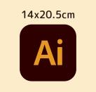 イラストレータテンプレート 14.5x20.5cm